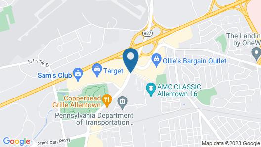 Staybridge Suites Allentown Bethlehem Airport Map