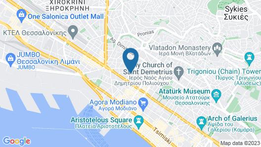 Antigon Urban Chic Hotel Map