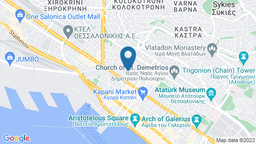 Egnatia Hotel Map