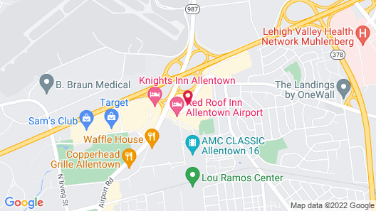 Scottish Inns & Suites, Allentown Map