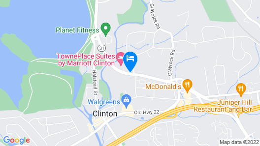 TownePlace Suites by Marriott Clinton Map