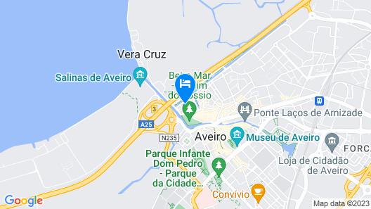 Aveiro Center Cozy Apartment Map