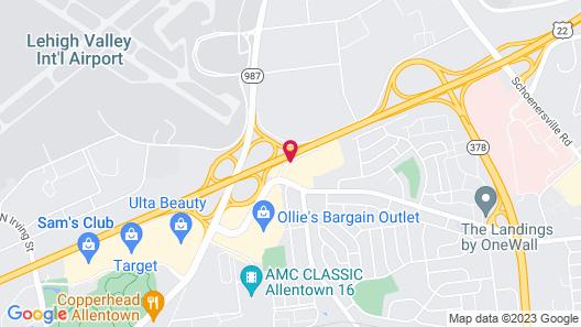 Fairfield Inn by Marriott Allentown Bethlehem/Lehigh Airport Map