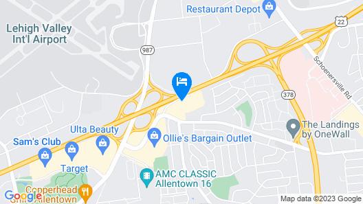 Sonesta Select Allentown Bethlehem Map