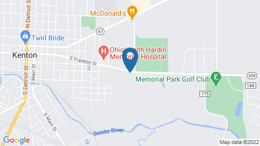 Kenwood Motel Map