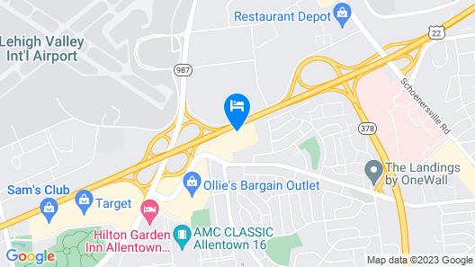 Sonesta ES Suites Allentown Bethlehem Map