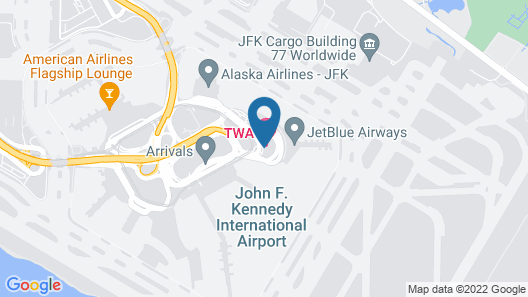 TWA Hotel at JFK Airport Map