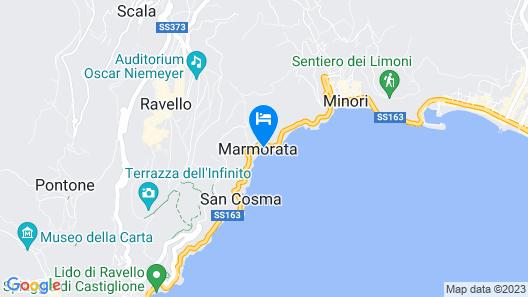 Ravello Art Hotel Marmorata Map