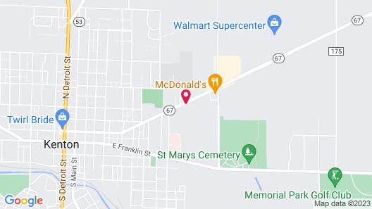 Country Hearth Inn & Suites Kenton Map