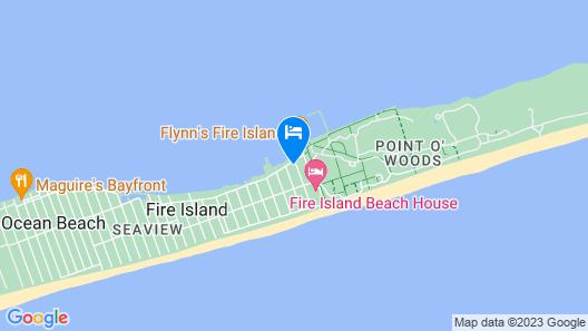 Cozy Fire Island Studio w/ Deck, Walk to the Beach Map