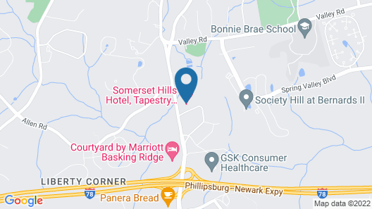 Somerset Hills Hotel, Tapestry Collection by Hilton Map
