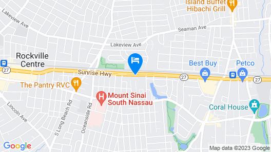Ramada by Wyndham Rockville Centre Map