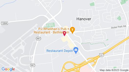 Homewood Suites by Hilton Allentown-Bethlehem Airport Map
