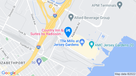 Embassy Suites Newark Airport Map