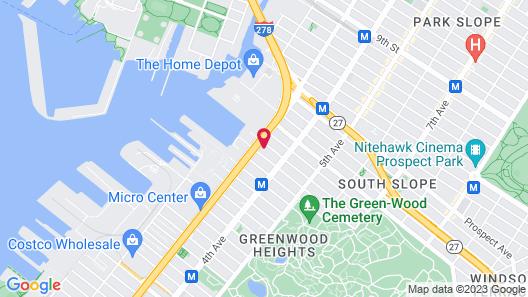 Sleep Inn Brooklyn near Arena Map
