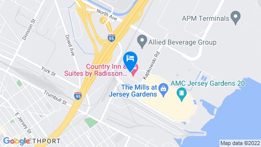 Country Inn & Suites by Radisson, Newark Airport, NJ Map