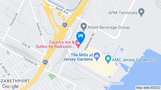 Extended Stay America Suites Elizabeth Newark Airport Map