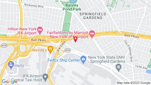 Best Western JFK Airport Hotel Map