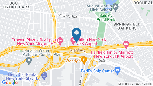 Hampton Inn JFK Airport Map