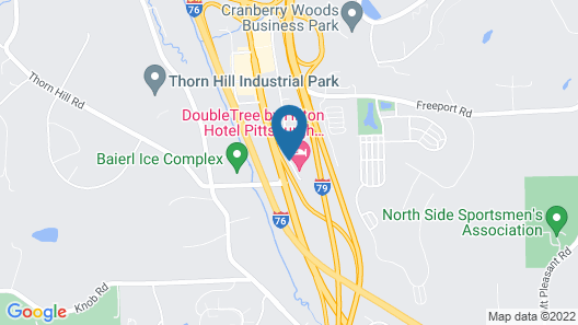 DoubleTree by Hilton Hotel Pittsburgh - Cranberry Map