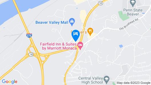 Hampton Inn Pittsburgh Area Beaver Valley CenterTownship Map