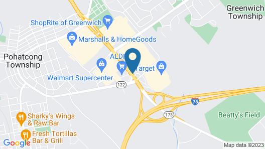 Americas Best Value Inn Phillipsburg Map