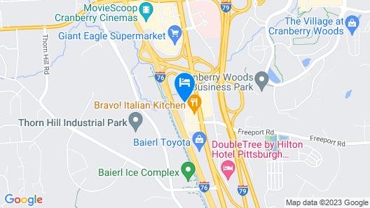 Hyatt Place Pittsburgh Cranberry Map