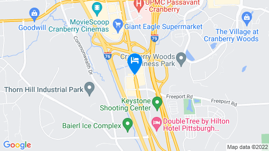 Red Roof Inn Pittsburgh North - Cranberry Township Map