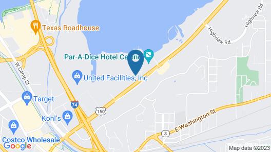 Hampton Inn Peoria-East At The River Boat Crossing Map