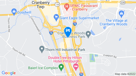 Candlewood Suites Pittsburgh Cranberry Map