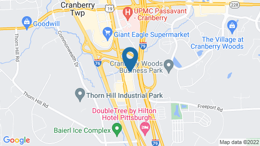 Candlewood Suites Pittsburgh Cranberry, an IHG Hotel Map