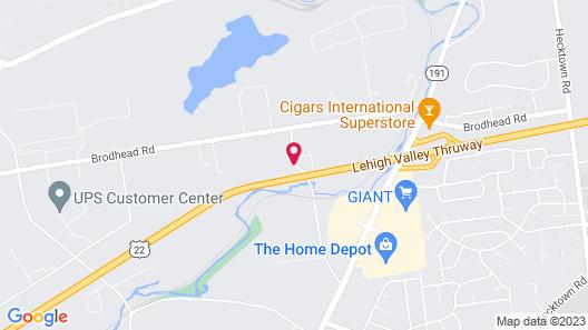 WoodSpring Suites Allentown Bethlehem Map