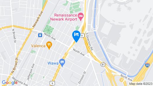 Motel 6 Elizabeth, NJ - Newark Liberty Intl Airport Map