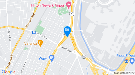 Crowne Plaza Newark Airport, an IHG Hotel Map