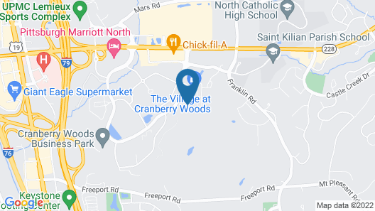 Hampton Inn & Suites Cranberry Pittsburgh Map