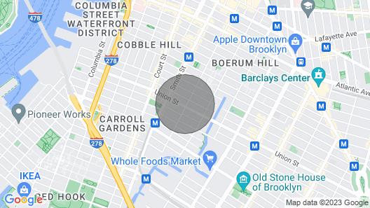 Super Convenient Carroll Gardens Apartment with Private Entrance 1 Block F Train Map