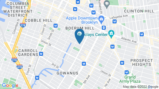 Red Lion Inn & Suites Brooklyn Map