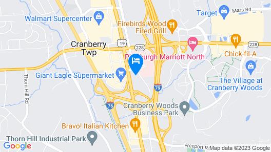 Quality Inn Cranberry Township Map