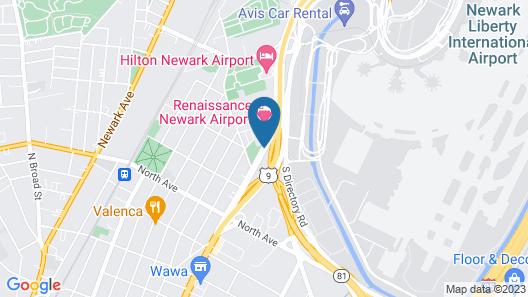 Renaissance Newark Airport Hotel Map