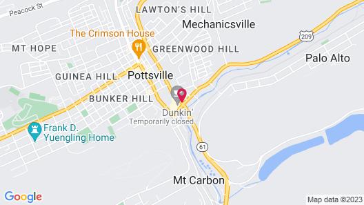 Pottsville Motor Inn Map