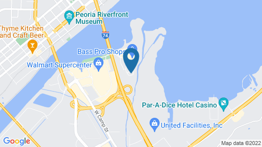 Holiday Inn Express & Suites East Peoria - Riverfront, an IHG Hotel Map