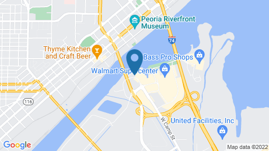 Embassy Suites by Hilton E Peoria Riverfront Conf Center Map