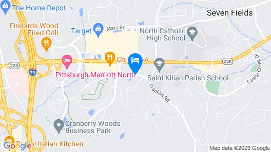 Hilton Garden Inn Pittsburgh/Cranberry Map