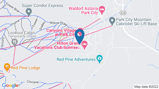 Sunrise Lodge by Hilton Grand Vacations Map