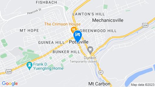 Ramada by Wyndham Pottsville/Frackville Map