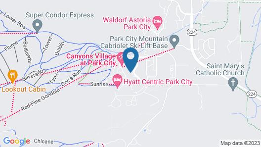 Canyons Village Condos by All Seasons Resort Lodging Map