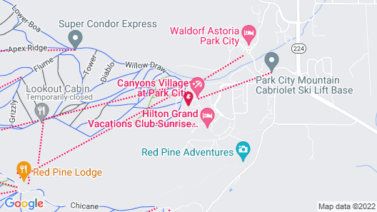 Sundial Lodge by Canyons Village Rentals Map
