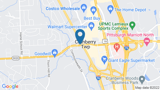 Residence Inn Cranberry Township Pittsburgh by Marriott Map