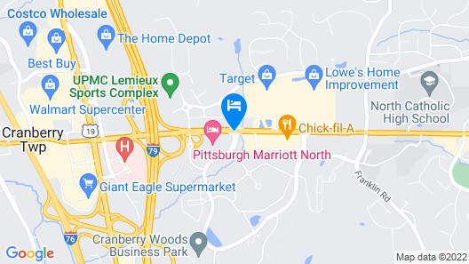 Pittsburgh Marriott North Map