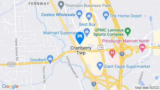 Hampton Inn Pittsburgh/Cranberry Map